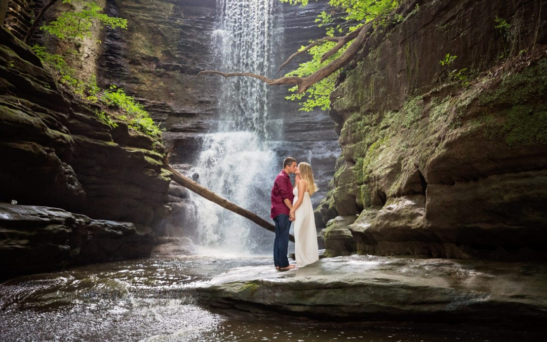 Brittany & Sam | Matthiessen State Park | Chicago Wedding Photographer